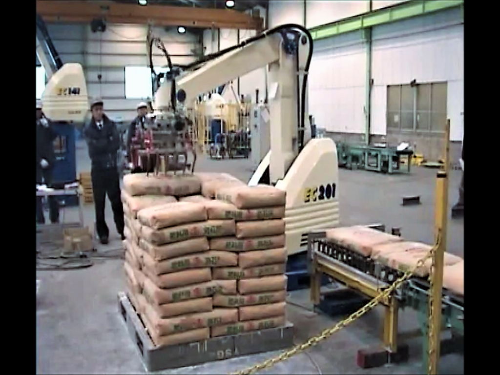 Fuji Robotic Palletizer for cement bags